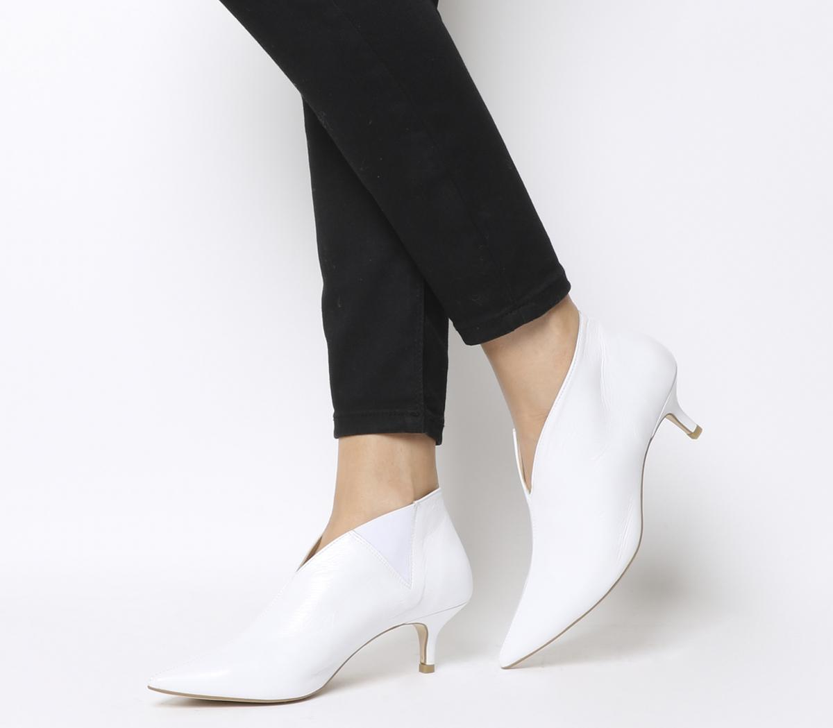 Office Me Low Shoeboots White Leather