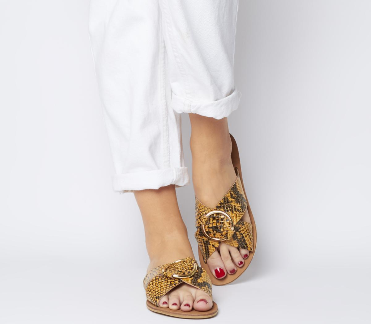 Spirit Ring Detail Mule Sandals