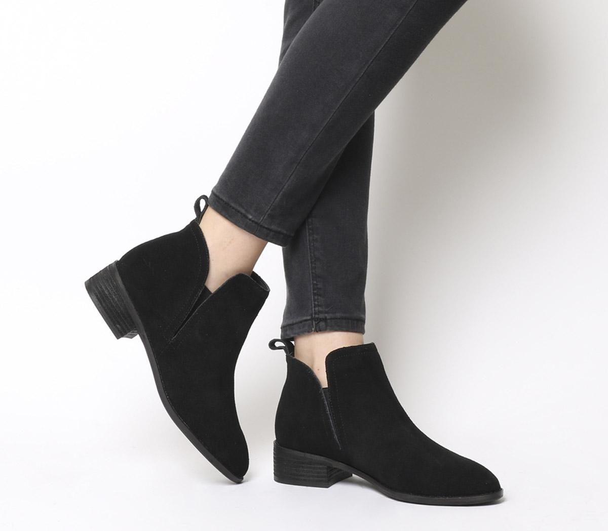 Office Andreas- Flat Ankle Boot Black
