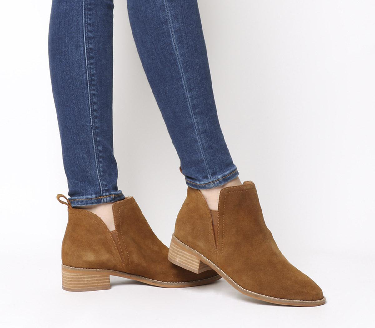 Office Andreas- Flat Ankle Boot Tan
