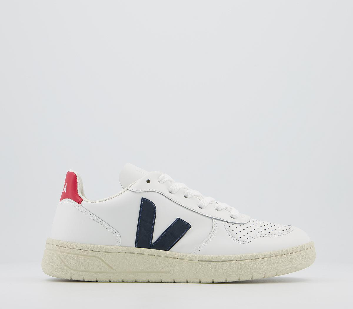 Orden alfabetico Confirmación Superioridad  Veja V-10 Trainers White Red Navy F - Hers trainers