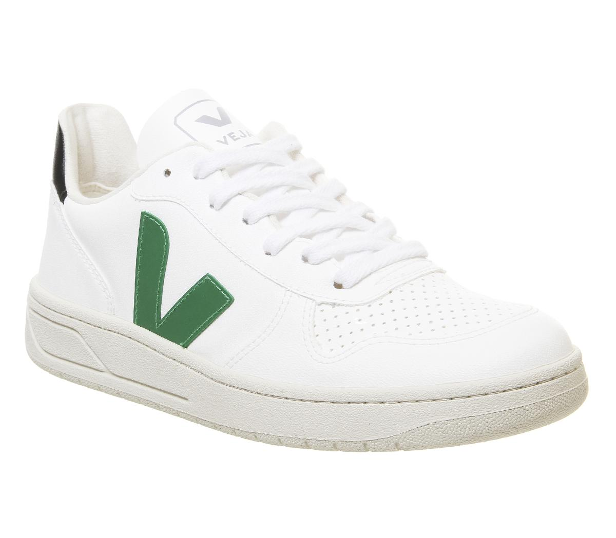 Veja V-10 Trainers White Emeraude Black