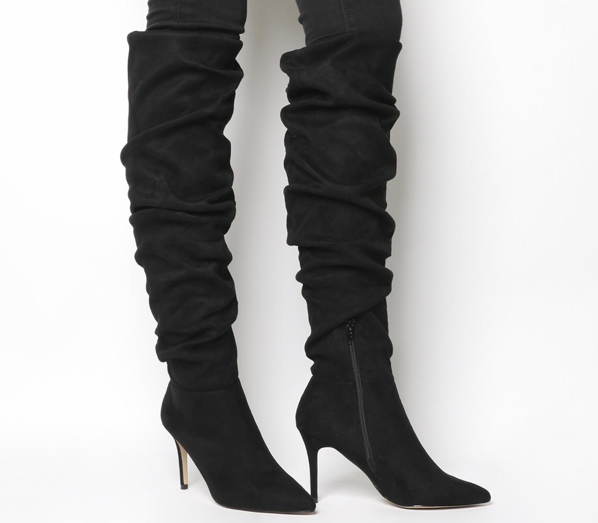 Kisses Dressy Ruched Stiletto Boots