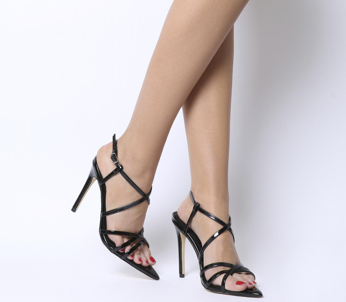 Office Hot Cake Strappy Sandals Black - High Heels