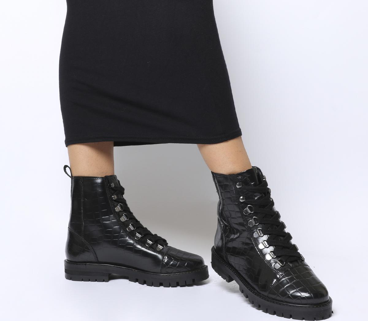 office lace up ankle boots