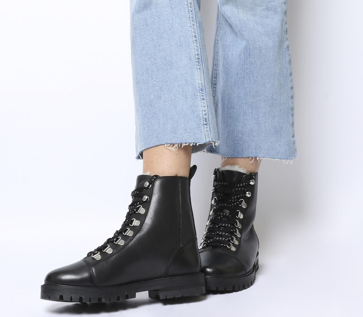 Office Ansel Hiker Lace Up Boots Black