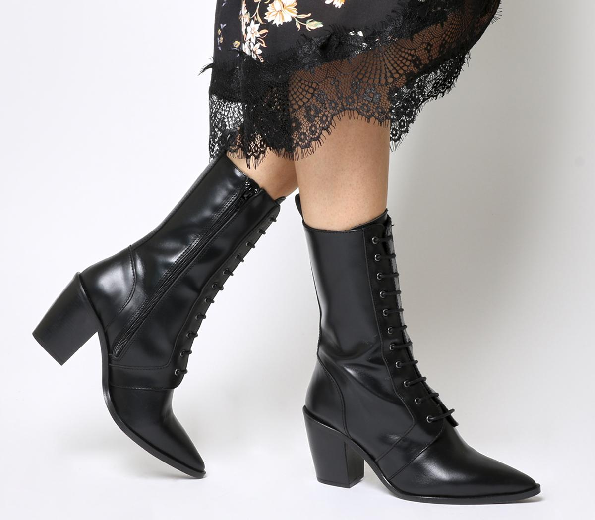 Office Komissioner Lace Up Calf Boots