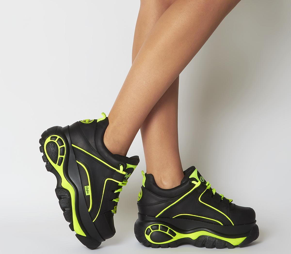 Low Sneakers Black Neon Green