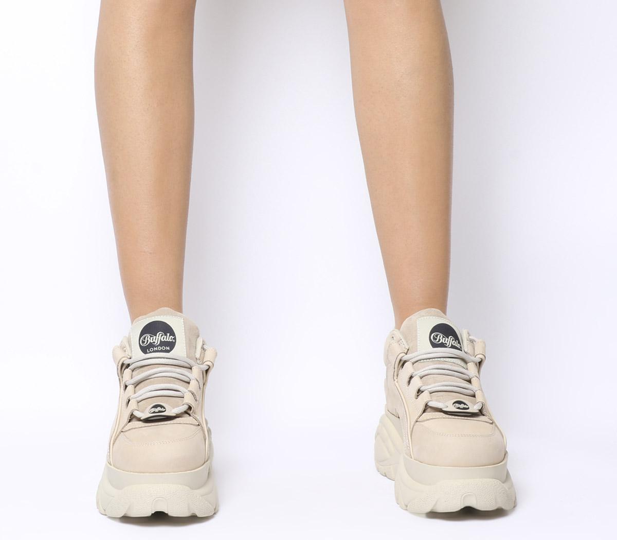 Buffalo Damen Sneaker Sneaker Low Leder weiss 41 | real