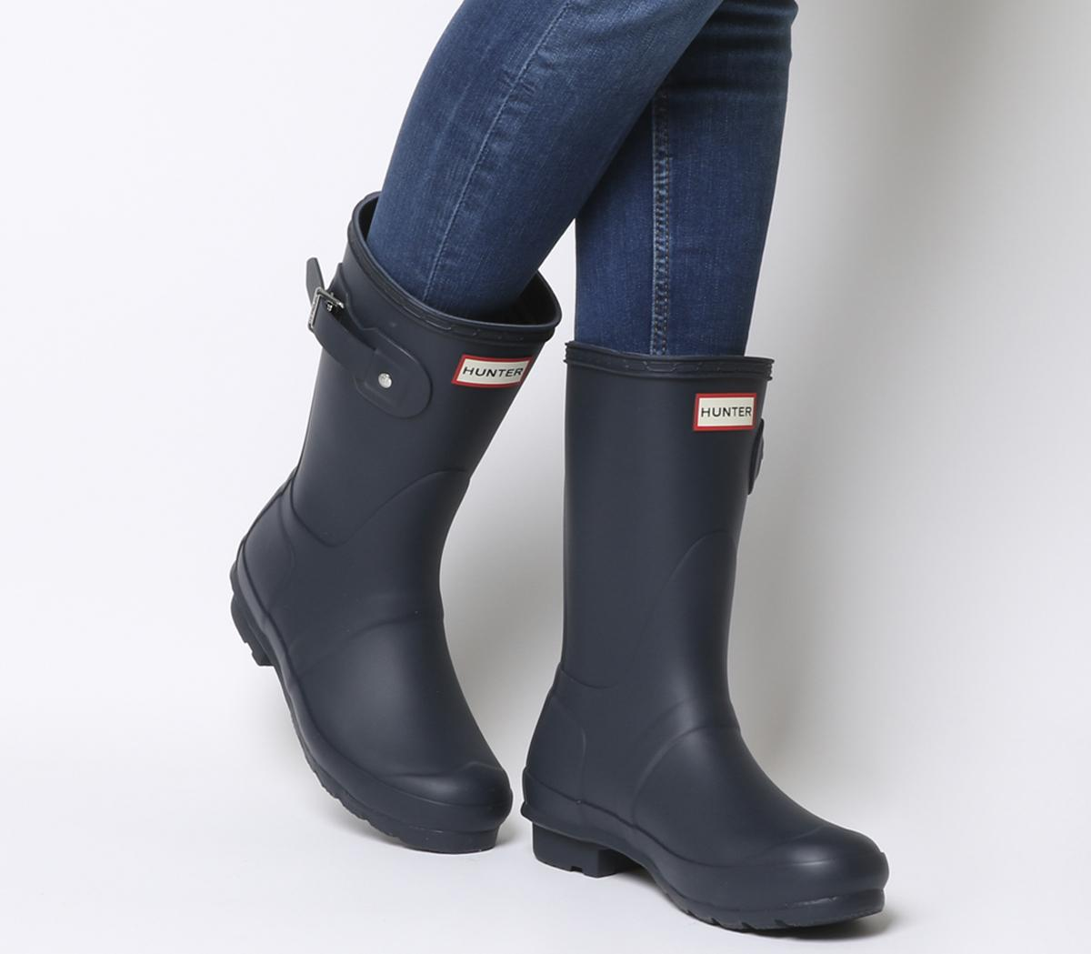 Ladies Girls Fashion Wellington Boots Short Wellies NEW