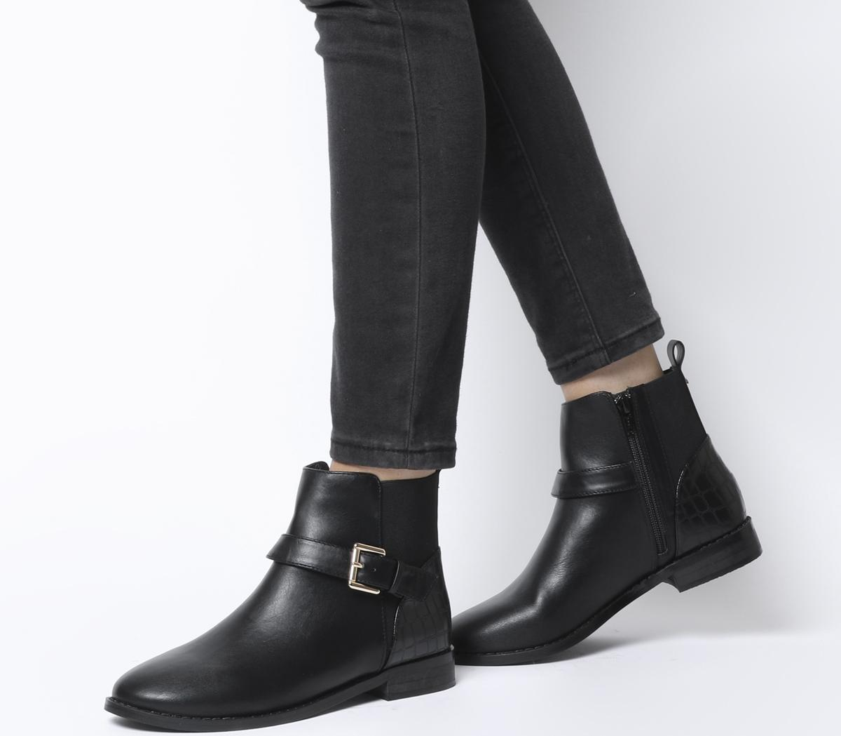 Agra Buckle Strap Chelsea Boots
