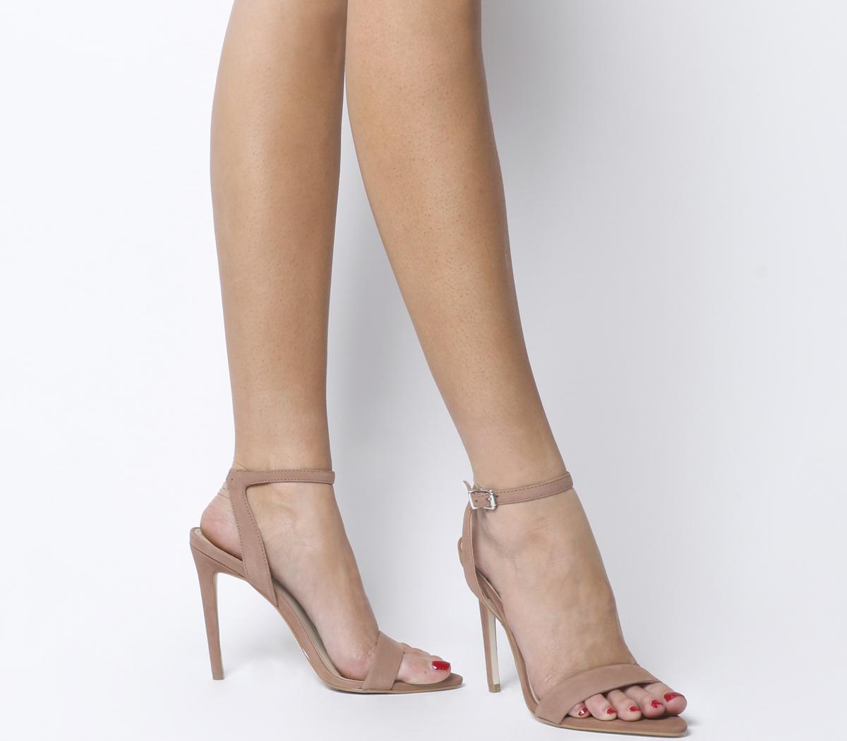 Hemlock Two Part Pointed Sandal Heels