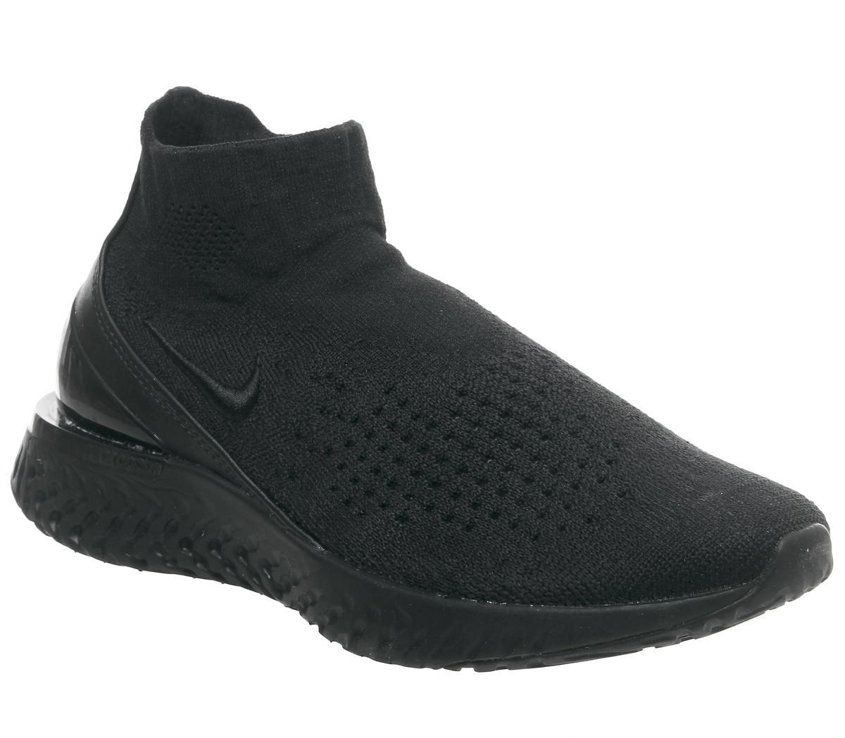 Nike Rise React Flyknit Black Black