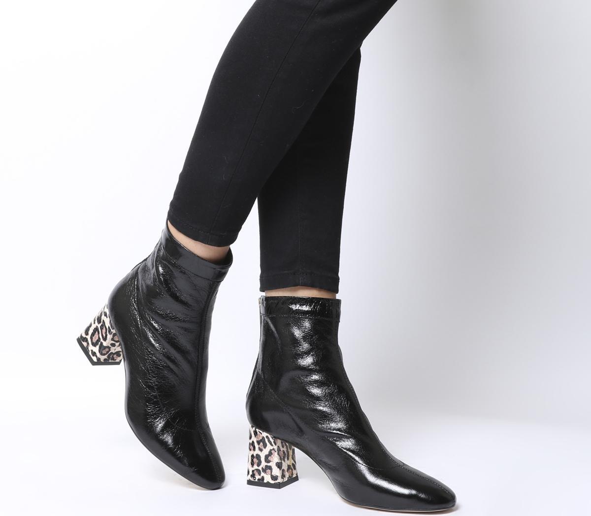 Back Zip Block Heel Boots