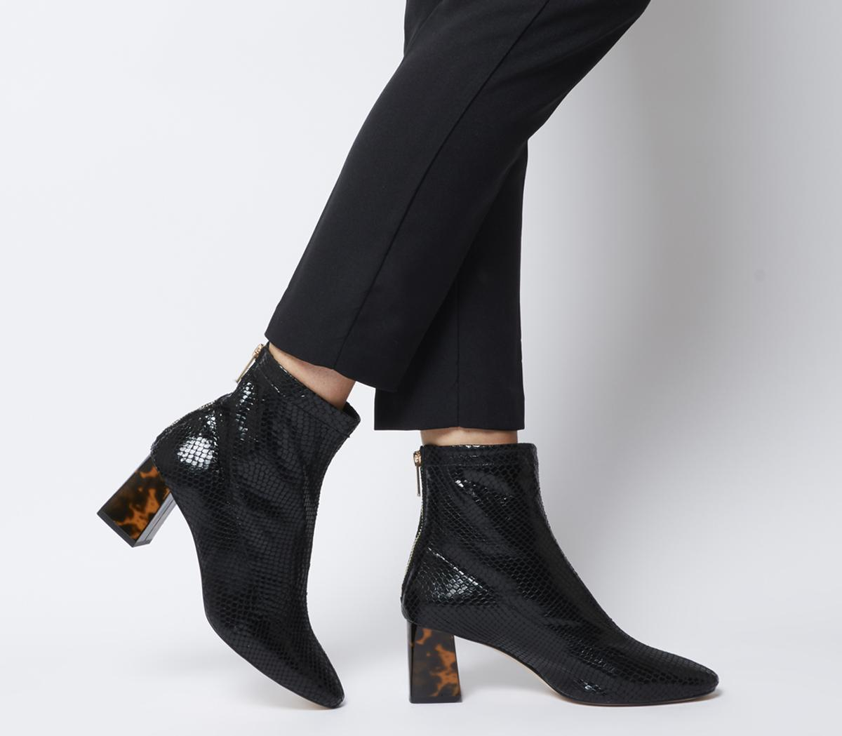 All Day Back Zip Block Heel Boots