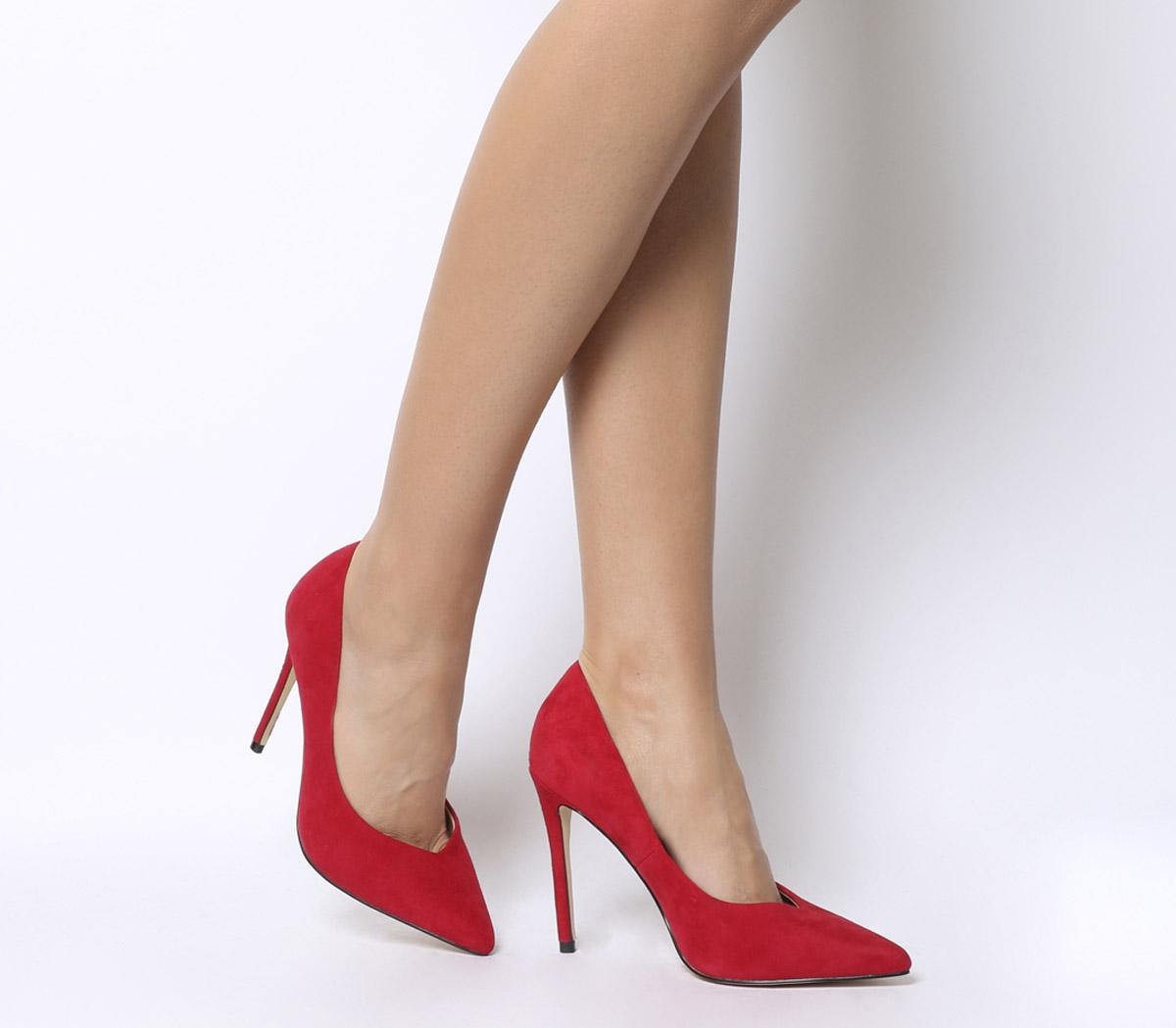 Office Highball Point Court Heels Red