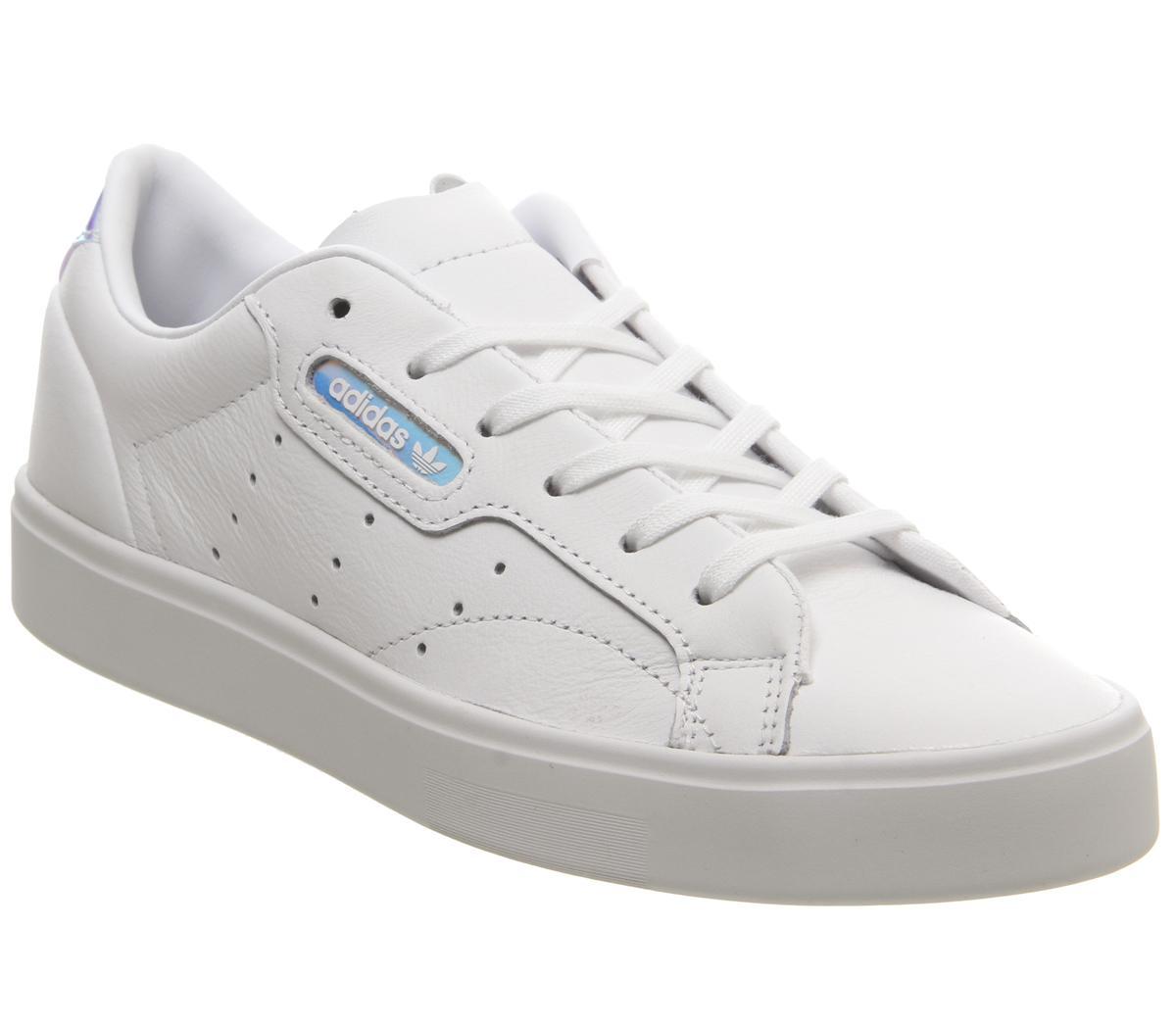 adidas Sleek Trainers White Iridescent