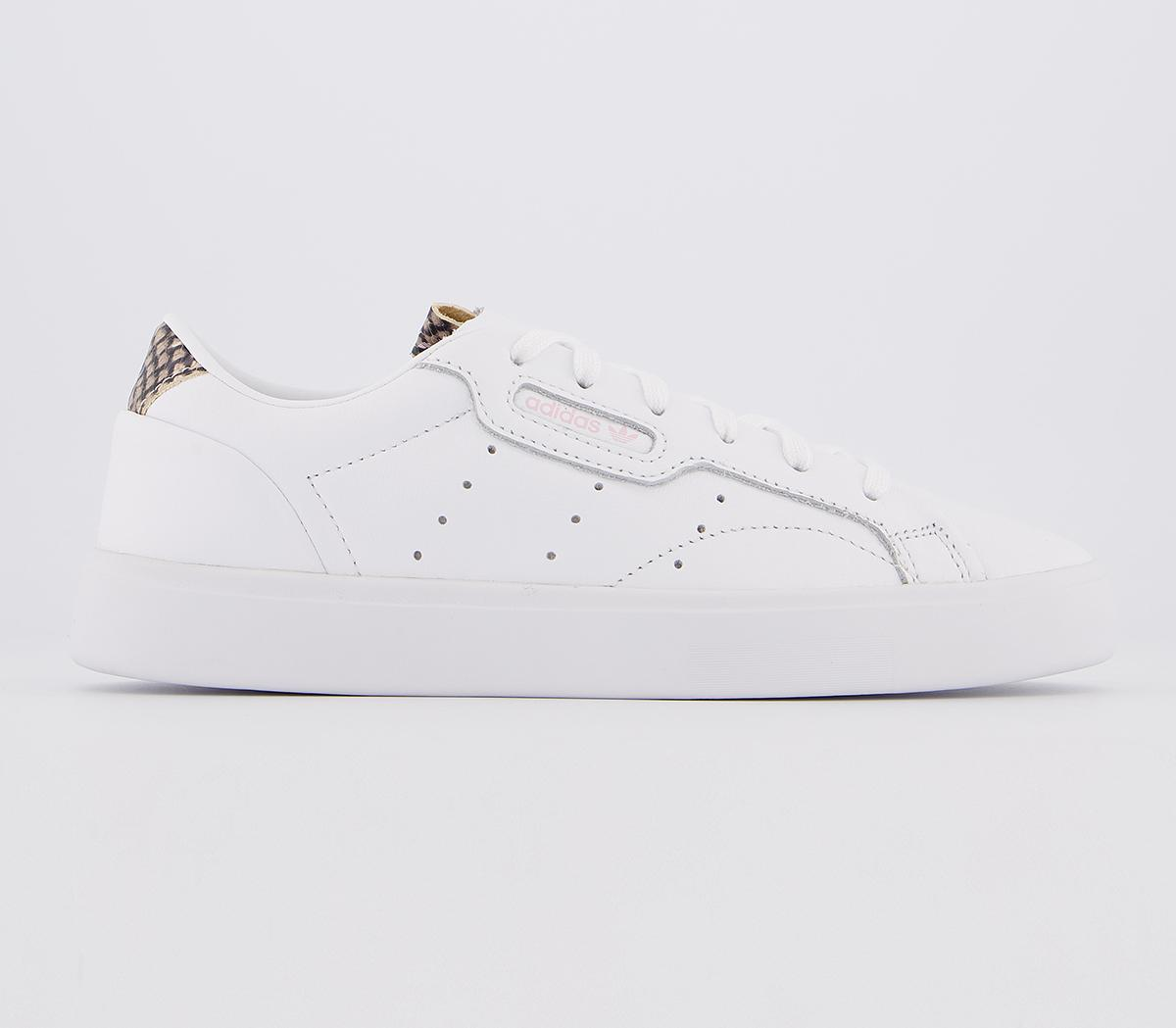 acceso tema templo  adidas Sleek Trainers White Clear Pink Snake Print Exclusive - Hers trainers