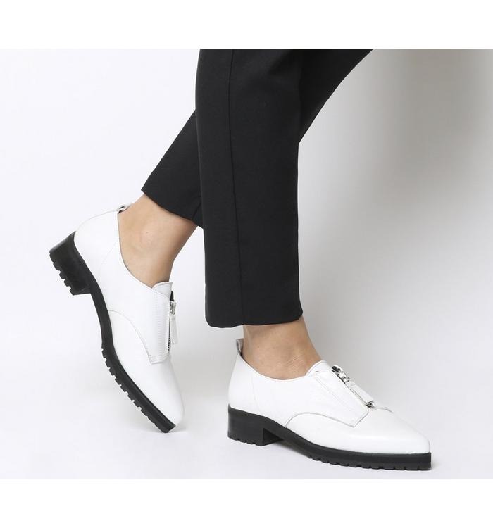 Office Office Foster Zip Front Cleated Shoe WHITE LEATHER