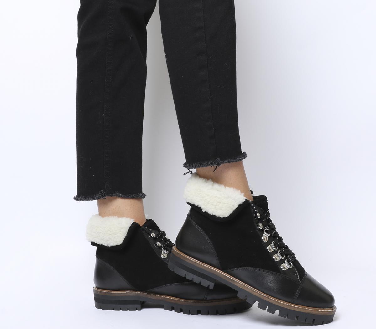 Office Adams Furline Hiker Boots Black