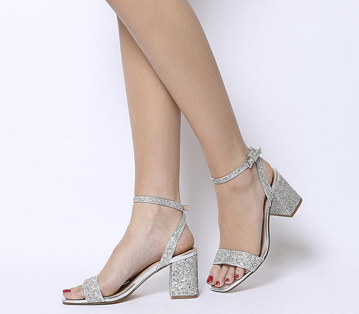Millions Square Toe Two Part Heels