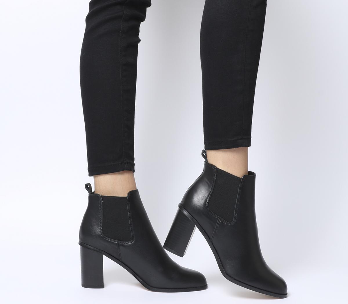 Office Answer Block Heel Chelsea Boots