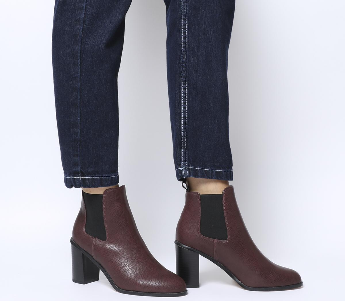 Answer Block Heel Chelsea Boots