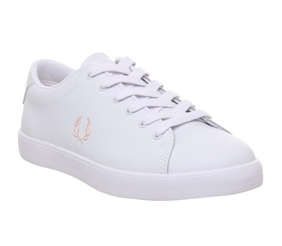 Fred Perry Lottie White Iced Coral