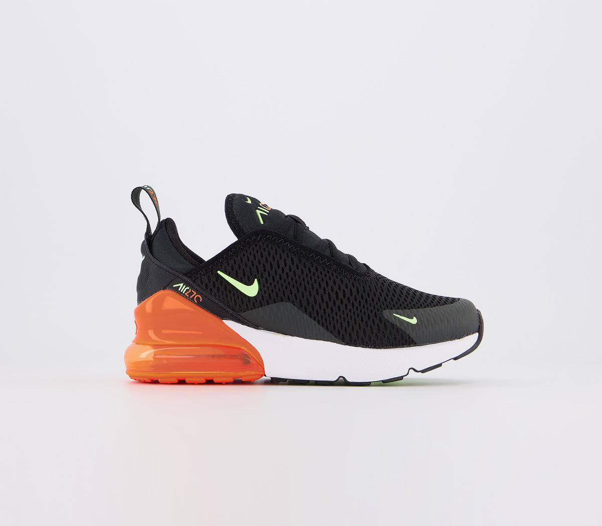 nike air max black green orange