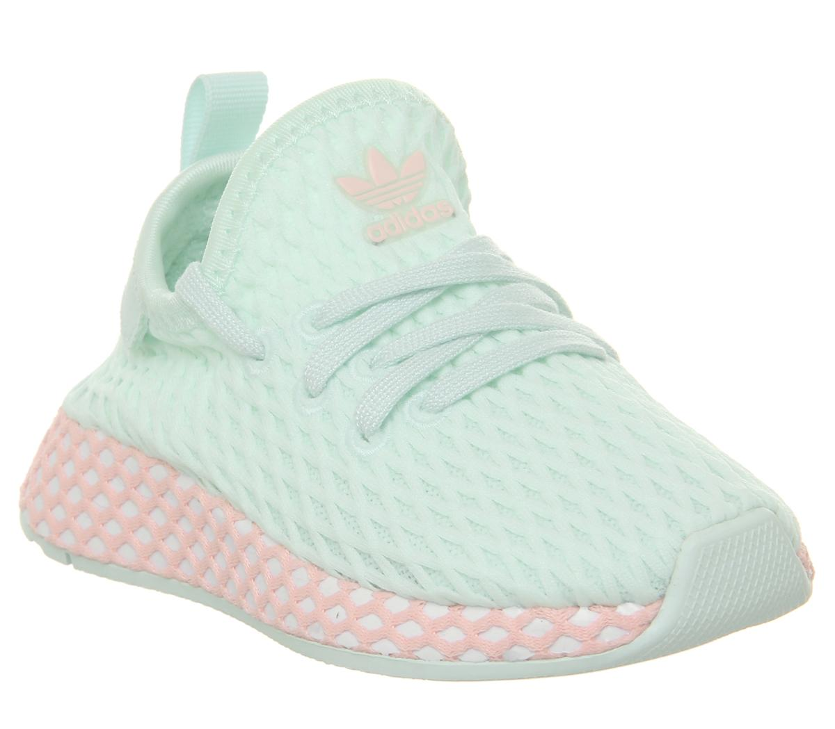 adidas Deerupt Infant Trainers Ice Mint Clear Orange - Kids Trainers