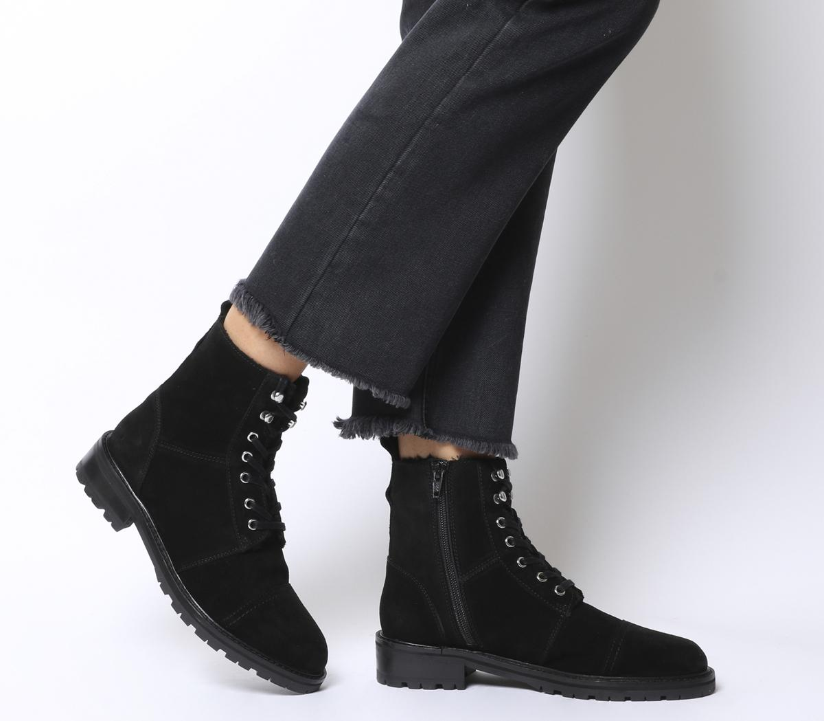 Office Armour 2 Fur Lined Lace Up Boots