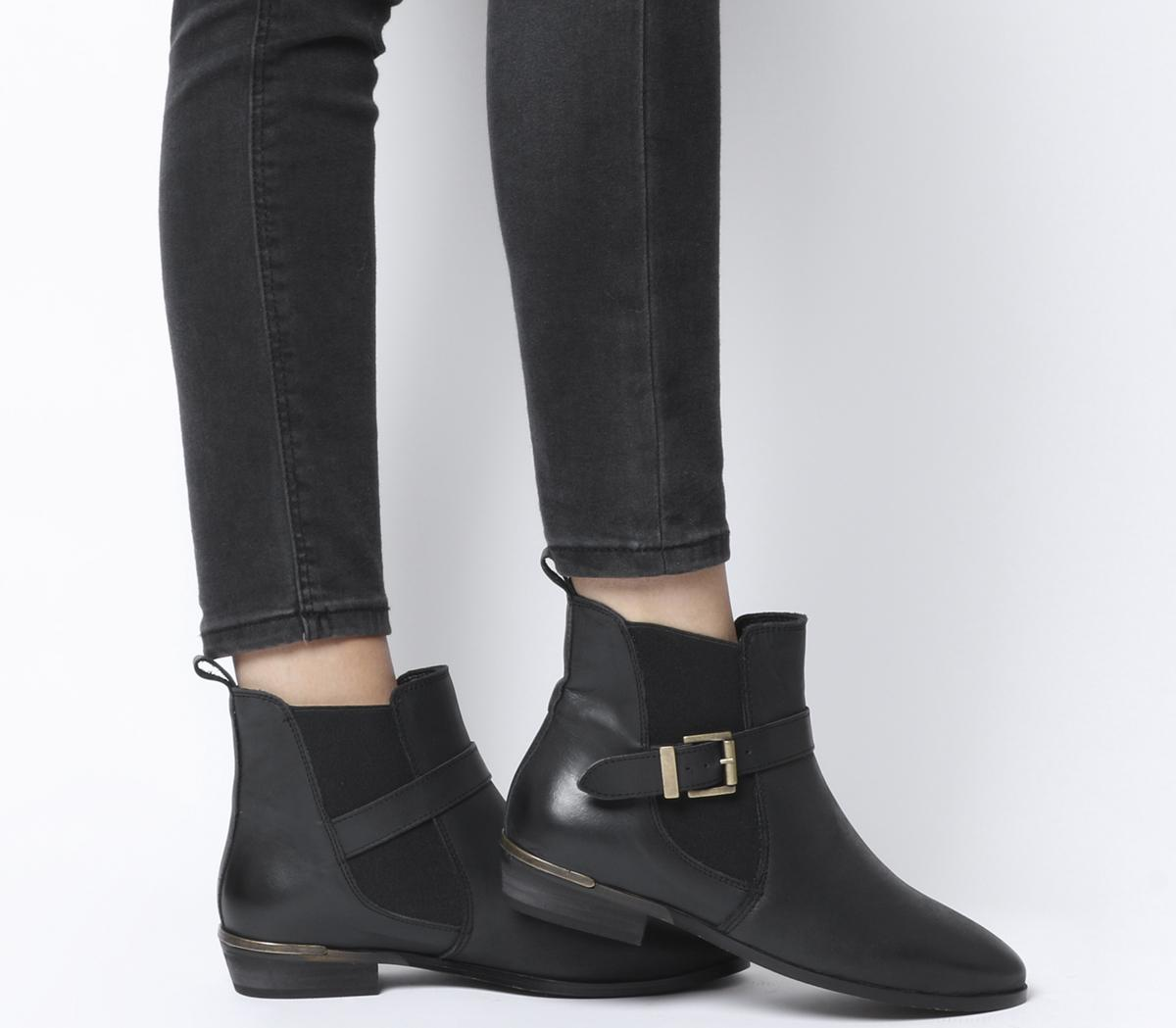Office Amble Flat Buckle Chelsea Boots
