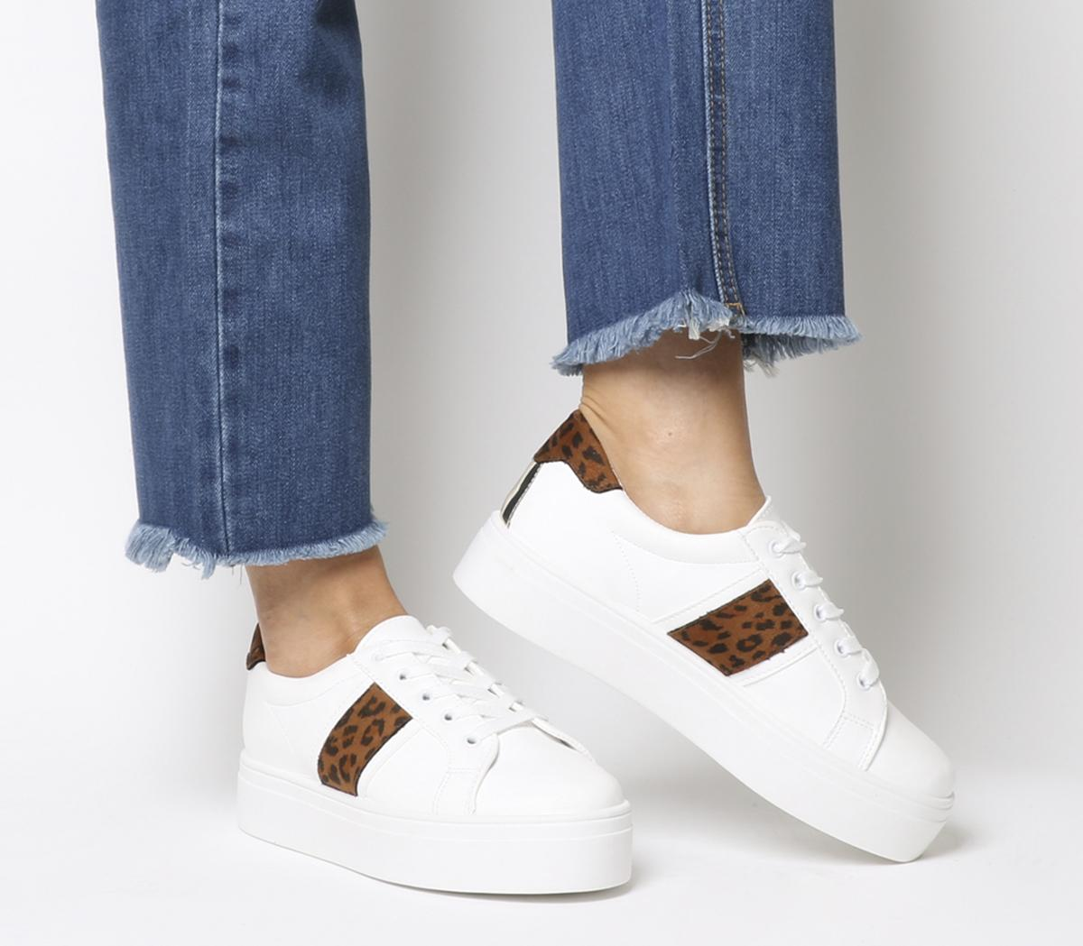 Feature Platform Lace Up Trainers