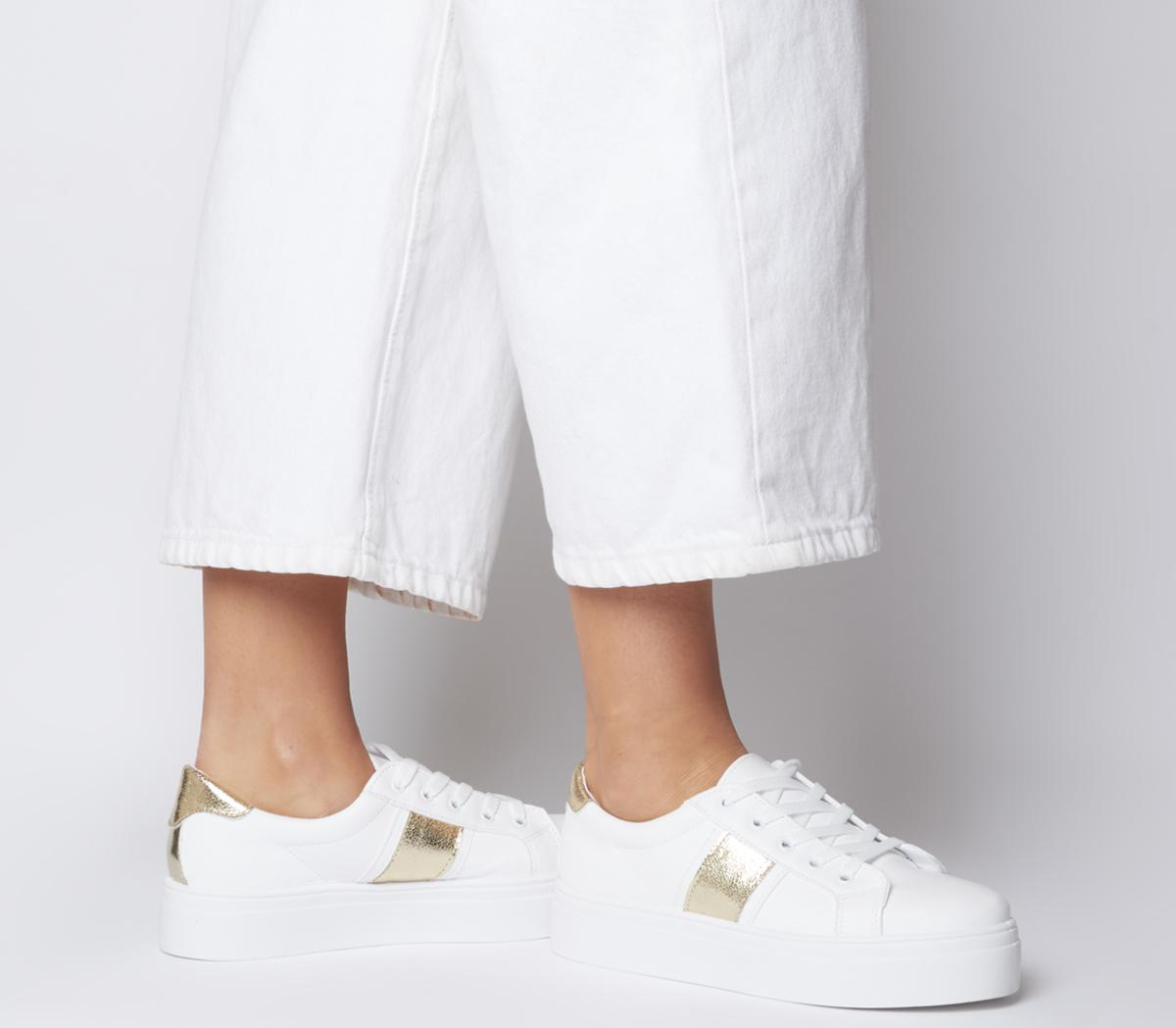 Feature Platform Lace Up Trainers White