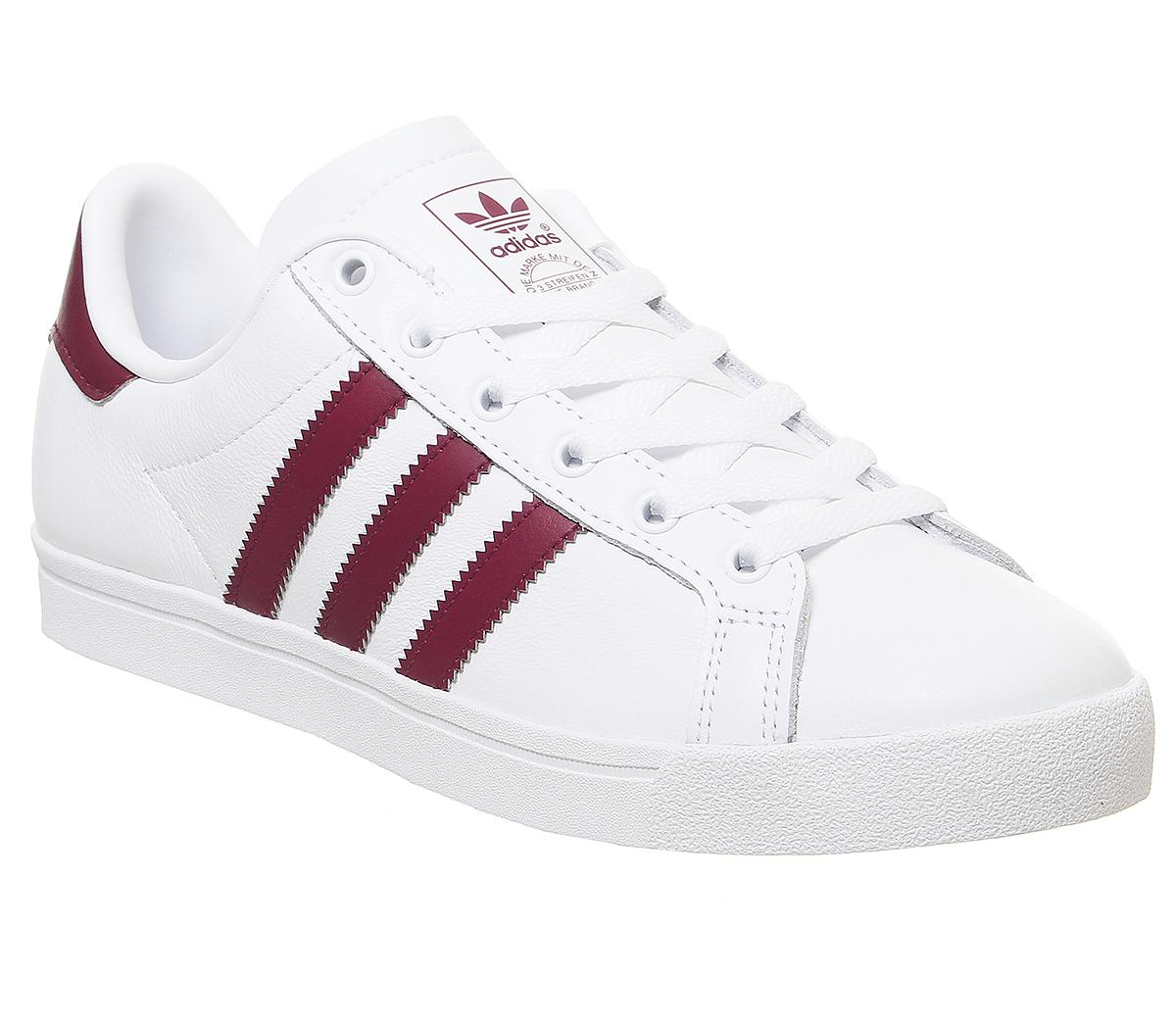 Arrepentimiento Empírico Pulido  adidas Coast Star Trainers White Burgundy - Hers trainers