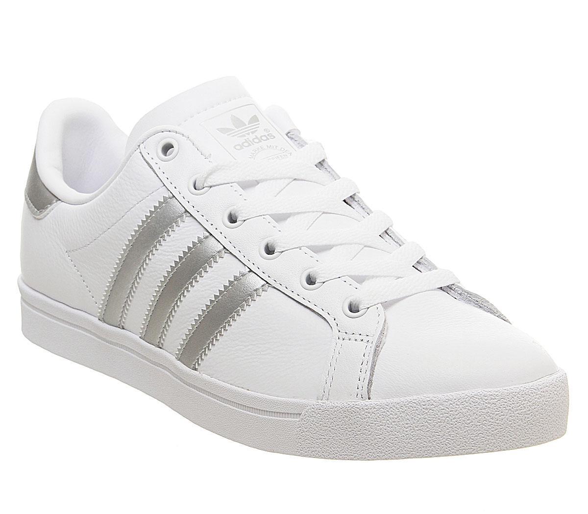 adidas Coast Star Trainers White Silver