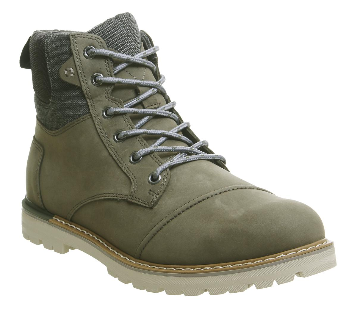 Toms Ashland Boots Tarmac Olive - Boots