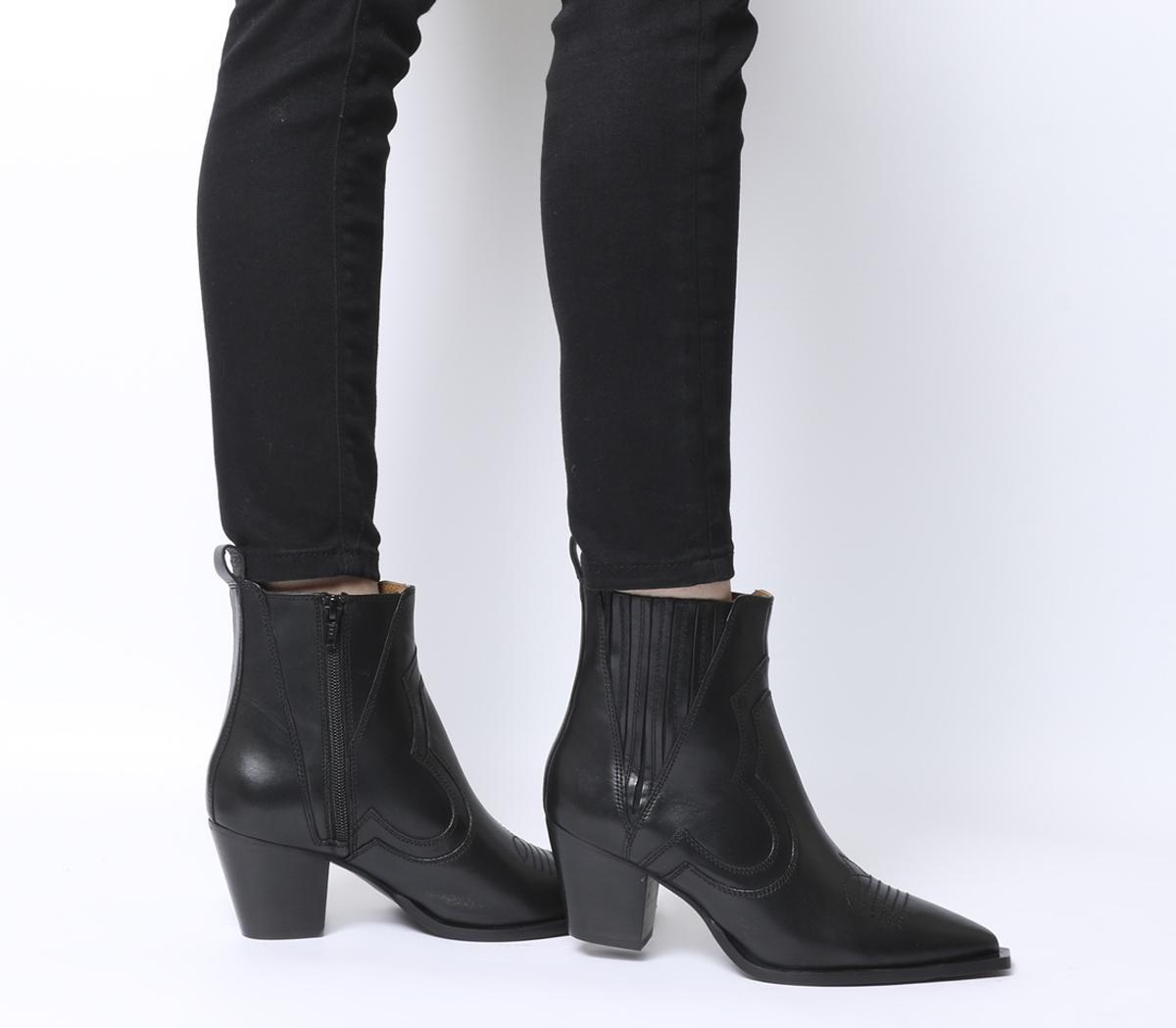 Ayla Western Block Heel Boots