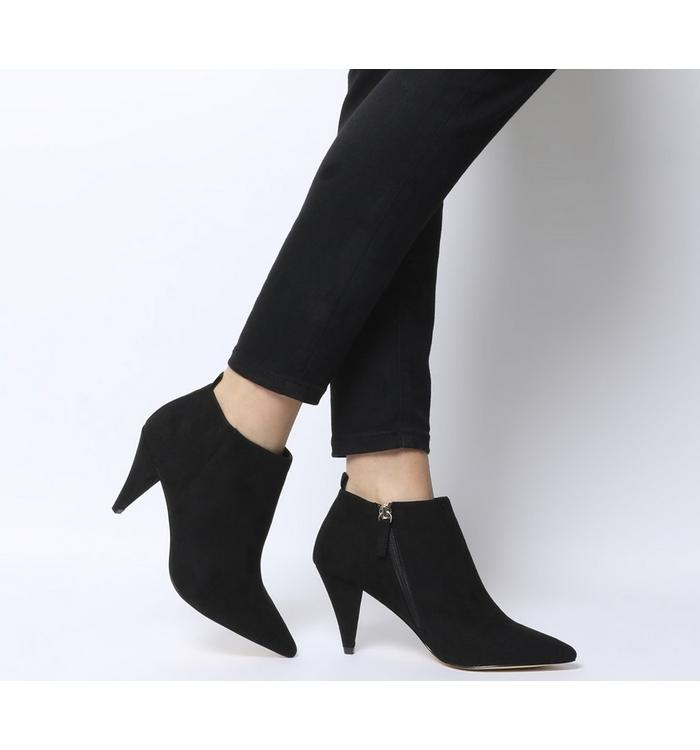 Office Office Mary Cone Heel Shoe Boot BLACK