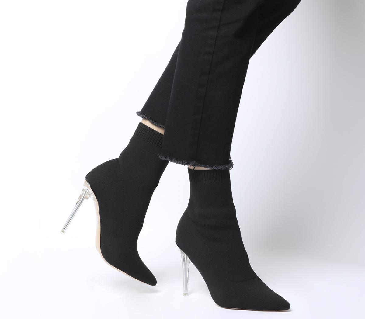 black long sock boots
