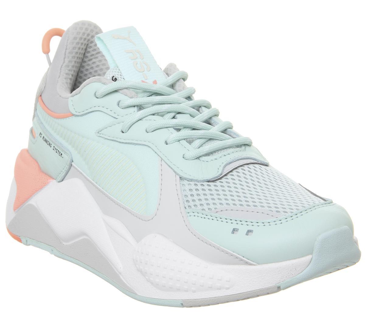 Puma Rs-x Tracks Trainers Mint Peach