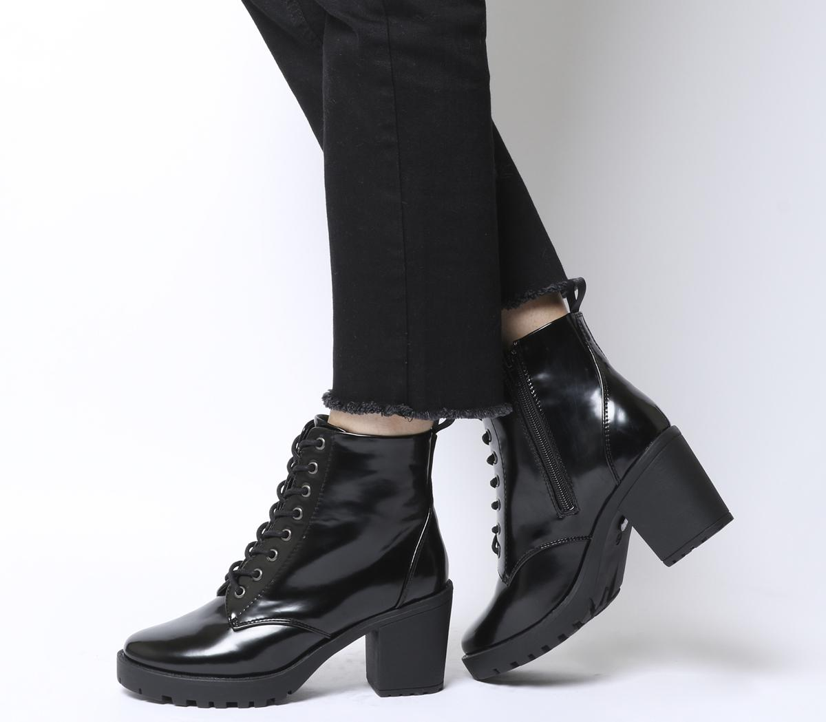 Office Absolutely Lace Up Cleated Boots