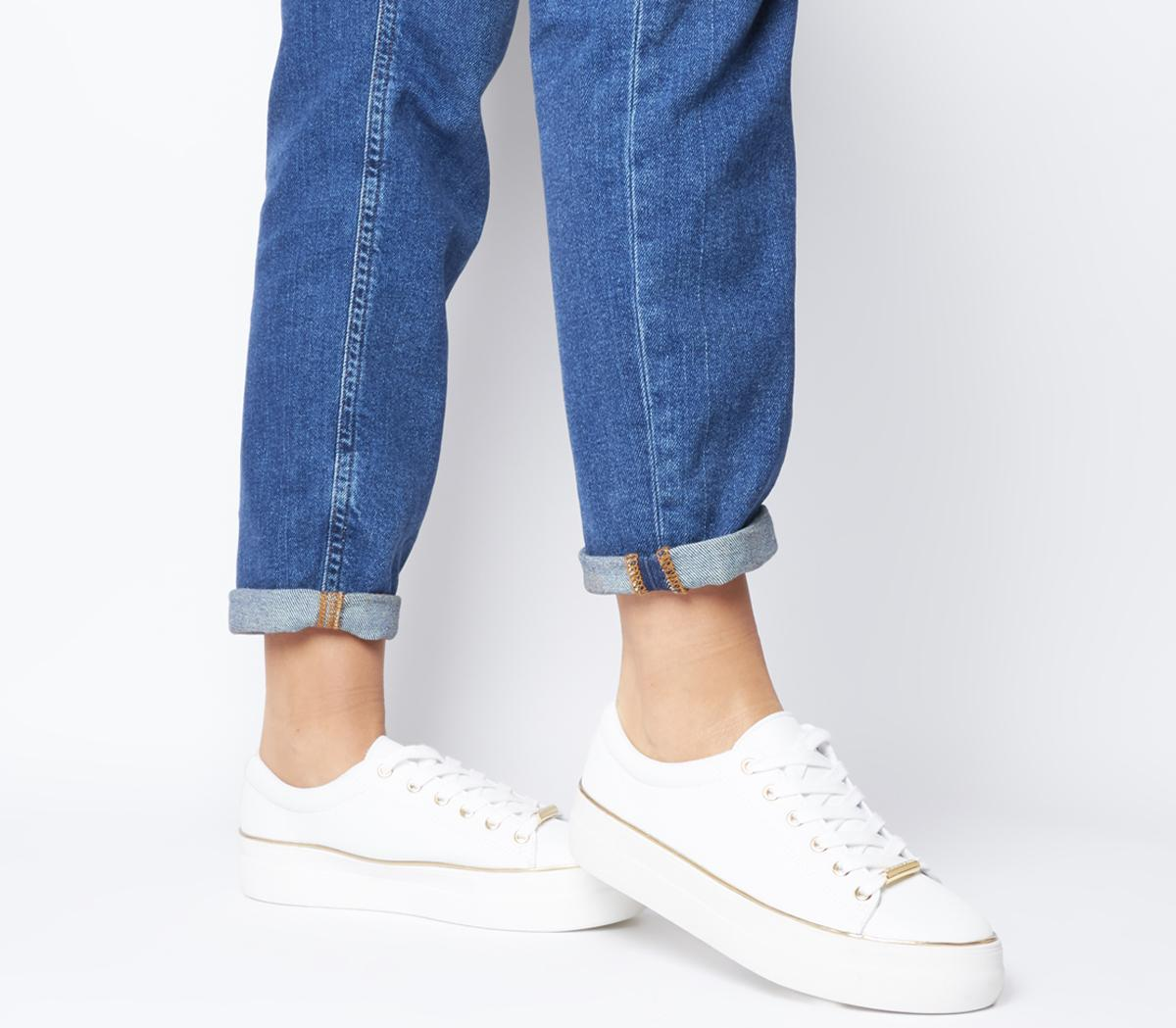 Office Free Flatform Trainers White