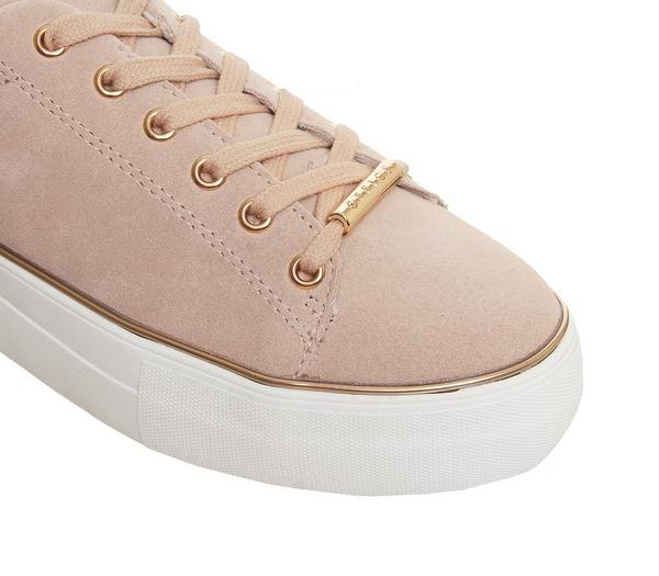 Office Free Flatform Trainer Nude Suede Rose Gold Rand - Flats k8ZCpcD