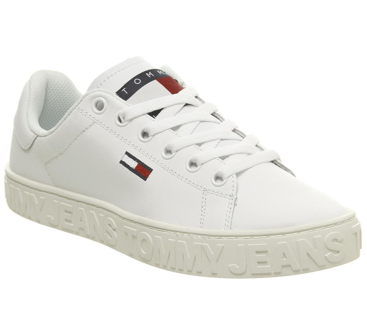 Tommy Hilfiger Girls White Slip-On Trainers.