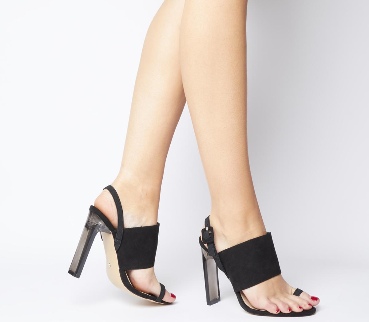 Office Heatwave Transparent Heel With