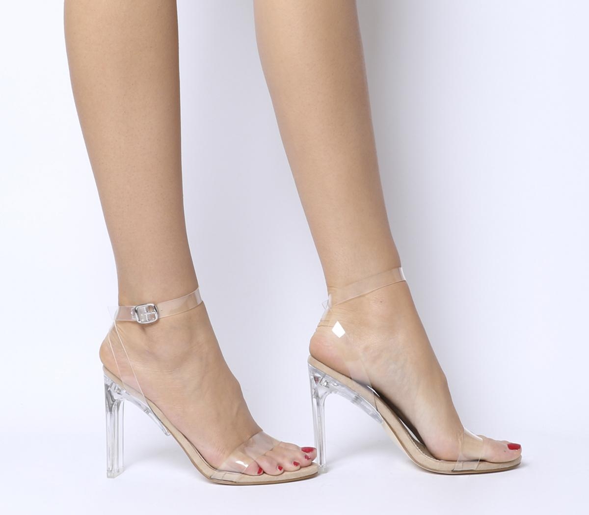 Ego Invisible Clear Heels Nude - High Heels