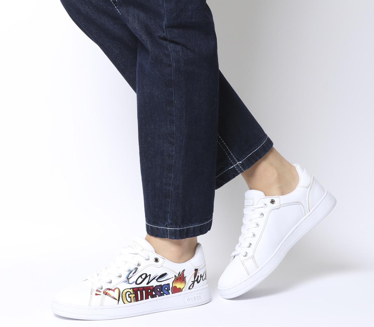 Guess Crayz Logo Sneakers White Multi