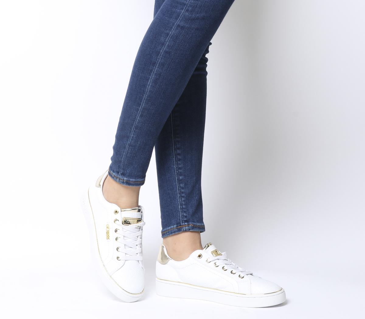 Guess Beckie Sneakers White Gold - Flats