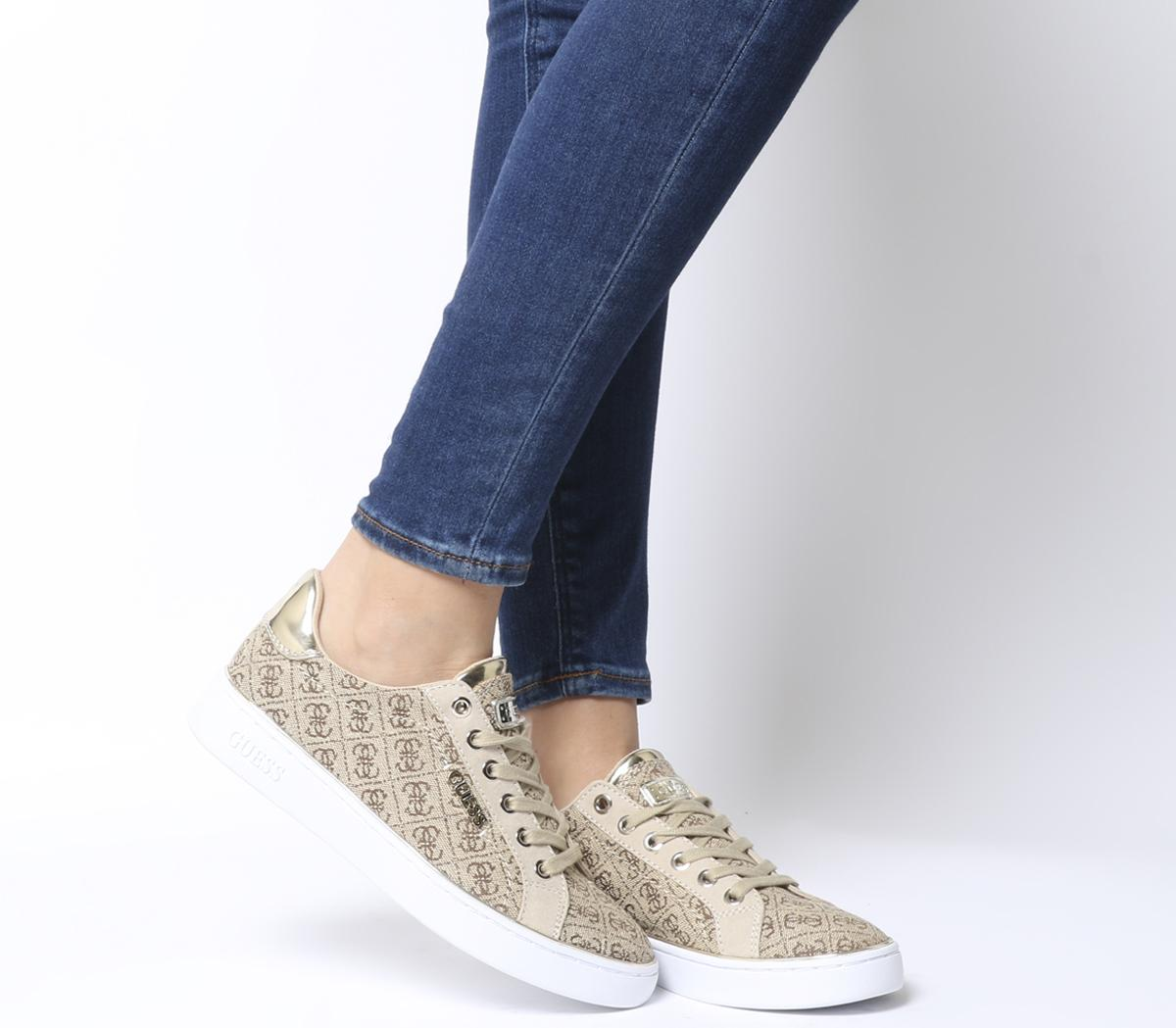 Guess Beckie Sneakers Beige Logo - Flats